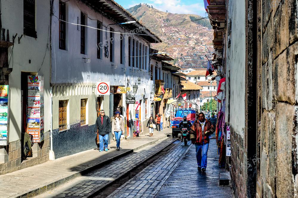 Calle Triunfo near Plaza De Armas and Cusco Cathedral