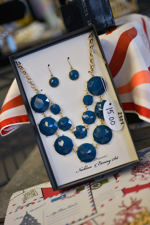 Jewelry at blue boutique in Downtown Akron