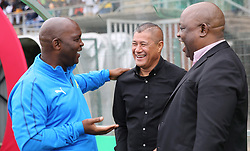 16092018(Durban) Both Coaches Pitso Mosimane and Cavin johnson at a match were AmaZulu FC targeted an upset win over Mamelodi Sundowns when the teams meet at King Zwelithini Stadium on 16 September 2018<br /> Picture: Motshwrai Mofokeng/African News Agency (ANA)