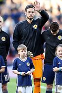 Scotland goalkeeper Craig Gordon (1) (Celtic)  during the Friendly international match between Scotland and Portugal at Hampden Park, Glasgow, United Kingdom on 14 October 2018.