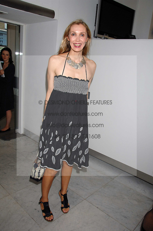 ALLEGRA HICKS at a reception hosted by Vogue magazine to launch photographer Tim Walker's book 'Pictures' sponsored by Nude, held at The Design Museum, Shad Thames, London SE1 on 8th May 2008.<br /><br />NON EXCLUSIVE - WORLD RIGHTS