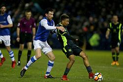 Sheffield Wednesday's David Jones and Carlisle united's Reggie Lambe battle for the ball