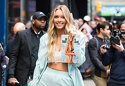 """Sports Illustrated Swimsuit Cover Model Camille Kostek is seen arriving at ABC's """"Good Morning America"""" at Times Square in New York City. 08 May 2019 Pictured: Camille Kostek. Photo credit: MEGA TheMegaAgency.com +1 888 505 6342"""