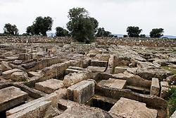 Parco Archeologico di Egnazia; necropoli, tombe a fosse e a semicamera