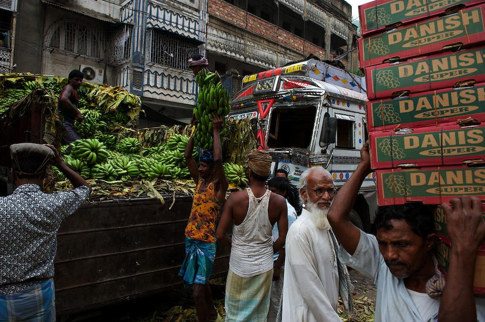 Wholesale banana market, Calcutta, West Bengal, India