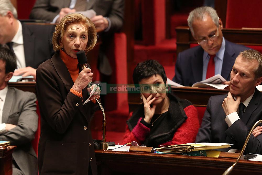 August 7, 2017 - Paris, France - NICOLE BRICQ - ASSEMBLEE NATIONALE: SEANCE DE QUESTIONS AU GOUVERNEMENT DU 04/02/2014. (Credit Image: © Visual via ZUMA Press)