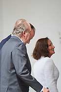 King Juan Carlos of Spain, Paloma Rocasolano arrived Asuncion de Nuestra Senora Church for the First Communion of Princess Sofia on May 17, 2017 in Aravaca near of Madrid.