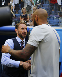 July 14, 2018 - Saint Petersbourg, Russie - SAINT PETERSBURG, RUSSIA - JULY 14 : Gareth Southgate head coach of England & Thierry Henry ass. coach of Belgian Team during the FIFA 2018 World Cup Russia Play-off for third place match between Belgium and England at the Saint Petersburg Stadium on July 14, 2018 in Saint Petersburg, Russia, 14/07/18 (Credit Image: © Panoramic via ZUMA Press)