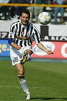 Parma 18/4/2004 Campionato Italiano Serie A <br />30a Giornata - Matchday 30 <br />Parma Juventus 2-2 <br />Gianluca Zambrotta (Juventus)<br /> Foto Graffiti