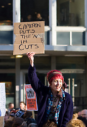 © under license to London News Pictures. 24/11/2010: Students in Manchester protest against cutbacks and the coalition government's proposed rise in tuition fees.