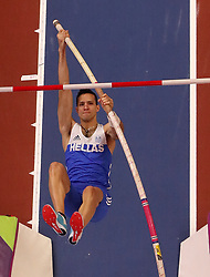 Greece's Konstantinos Filippidis in action during the men's Pole Vault during day four of the 2018 IAAF Indoor World Championships at The Arena Birmingham. PRESS ASSOCIATION Photo. Picture date: Sunday March 4, 2018. Photo credit should read Simon Cooper/PA Wire.