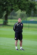 Cardiff city manager Malky Mackay during Cardiff city FC training at their training base in the Vale Resort, near Cardiff in South Wales on Friday 20th Sept 2013. the team are training ahead of their next home Barclays premier league match against Tottenham Hotspur. pic by Andrew Orchard, Andrew Orchard sports photography,