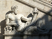Detail from the Vatican Gardens, the large sprawling urban gardens which cover more than half the Vatican territory (around 23 hectares). The gardens are decorated with sculptures, reliefs and fountains. This image shows one of the many sculptures.