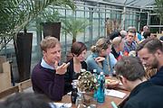 CHUS MARTINEZ, Lunch at Glasshouse Auepark,, Auedamm 18Documenta ( 13 ), Kassel, Germany. 14 September 2012.