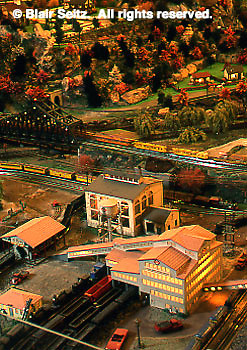 Roadside America Miniature Train Village, Mini-village, 50's (fifties) town scene, Shartlesville, Berks Co., PA