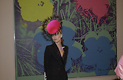 Daphne Niarchos<br />. Andy Warhol exhibition opening. Tate Modern, 4 February 2002. © Copyright Photograph by Dafydd Jones 66 Stockwell Park Rd. London SW9 0DA Tel 020 7733 0108 www.dafjones.com