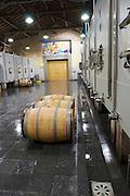 concrete vats barrels clos des quatre vents margaux medoc bordeaux france