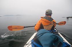 Taylor Paddles On, Stuart Island, Washington, US