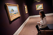 Sotheby's £250m Impressionist & Modern Art and Contemporary Art Summer Sales.  Highlights include: Monet's Water Lilies est £20-30m (and here - R-  his La Seine a Argenteuil est £7m with works of Manet (L) and Sisley etc  - pictured); a Mondrian, est £13-18m; a Peter Doig, est £9m; a Frances Bacon triptych of his lover George Dyer, est £15-20m; and works by Matisse, Picasso, Basquiat, Warhol and Richter. Sotheby's, New Bond Street, London.