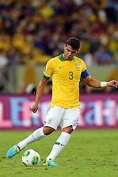 Thiago Silva na partida entre Brasil e Espanha válida pela final da Copa das Confederações 2013, no estádio Maracanã, no Rio de Janeiro. FOTO: Jefferson Bernardes/Preview.com