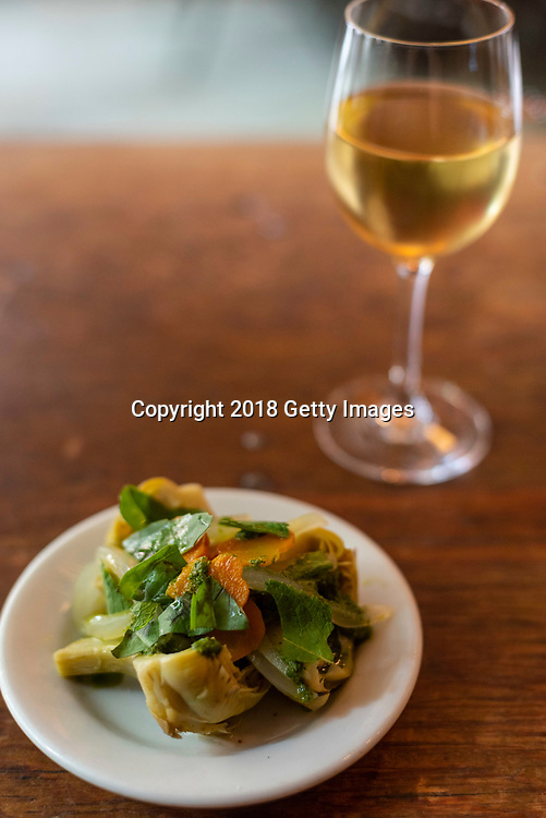 NEW YORK- JUNE 3:  Artichokes à la grecque  photographed at Chef Jody Williams' Buvette on June 3rd, 2019 in New York City. (Photo by Kris Connor/Getty Images for OK! Magazine)