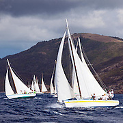 Sweetheart sailing in the Cannon Race at the Antigua Classic Yacht Regatta.