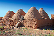 """Pictures of the beehive adobe buildings of Harran, south west Anatolia, Turkey.  Harran was a major ancient city in Upper Mesopotamia whose site is near the modern village of Altınbaşak, Turkey, 24 miles (44 kilometers) southeast of Şanlıurfa. The location is in a district of Şanlıurfa Province that is also named """"Harran"""". Harran is famous for its traditional 'beehive' adobe houses, constructed entirely without wood. The design of these makes them cool inside. 9 .<br /> <br /> If you prefer to buy from our ALAMY PHOTO LIBRARY  Collection visit : https://www.alamy.com/portfolio/paul-williams-funkystock/harran.html<br /> <br /> Visit our TURKEY PHOTO COLLECTIONS for more photos to download or buy as wall art prints https://funkystock.photoshelter.com/gallery-collection/3f-Pictures-of-Turkey-Turkey-Photos-Images-Fotos/C0000U.hJWkZxAbg ."""