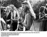 Drinks party for Henrietta Tatham. Ryecroft St. london SW6. 2 July 1986. Film 86521f30<br />© Copyright Photograph by Dafydd Jones<br />66 Stockwell Park Rd. London SW9 0DA<br />Tel 0171 733 0108