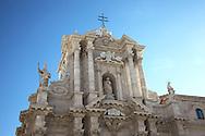 The Crown of Il Duomo di Siracusa at Ortigia, Siracusa, Sicily.