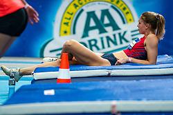Kika van Bergen en Henegouwen in action on the long jump during AA Drink Dutch Athletics Championship Indoor on 20 February 2021 in Apeldoorn.