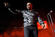 Doug E. Fresh performing on the Legends of Hip Hop Tour at the Chaifetz Arena in St. Louis, Missouri on March 12, 2011.