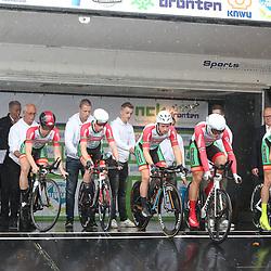 30-09-2017: Wielrennen: Nederlands kampioenschap clubteams: Dronten<br />Westland Wil Vooruit werd derde