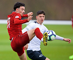 DERBY, ENGLAND - Friday, March 8, 2019: Liverpool's Curtis Jones scores the third goal during the FA Premier League 2 Division 1 match between Derby County FC Under-23's and Liverpool FC Under-23's at the Derby County FC Training Centre. (Pic by David Rawcliffe/Propaganda)
