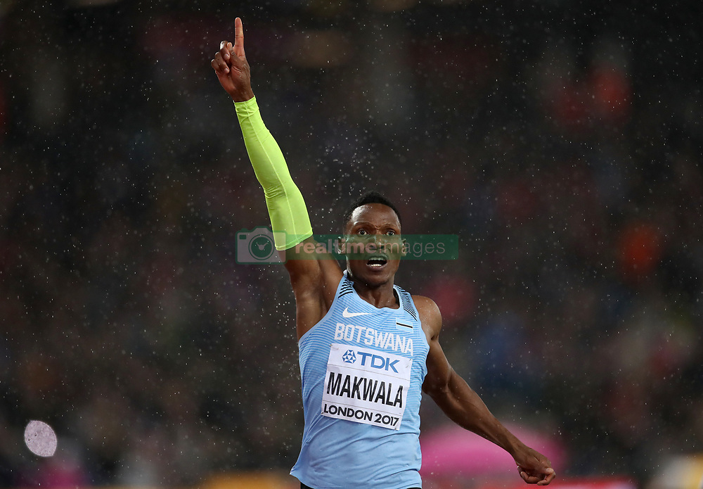 Botswana's Isaac Makwala in the Men's 200m heat one during day six of the 2017 IAAF World Championships at the London Stadium. PRESS ASSOCIATION Photo. Picture date: Wednesday August 9, 2017. See PA story ATHLETICS World. Photo credit should read: John Walton/PA Wire. RESTRICTIONS: Editorial use only. No transmission of sound or moving images and no video simulation