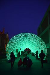 Tunnel of Light, christmas lights on Hayhill, Norwich UK November 2019
