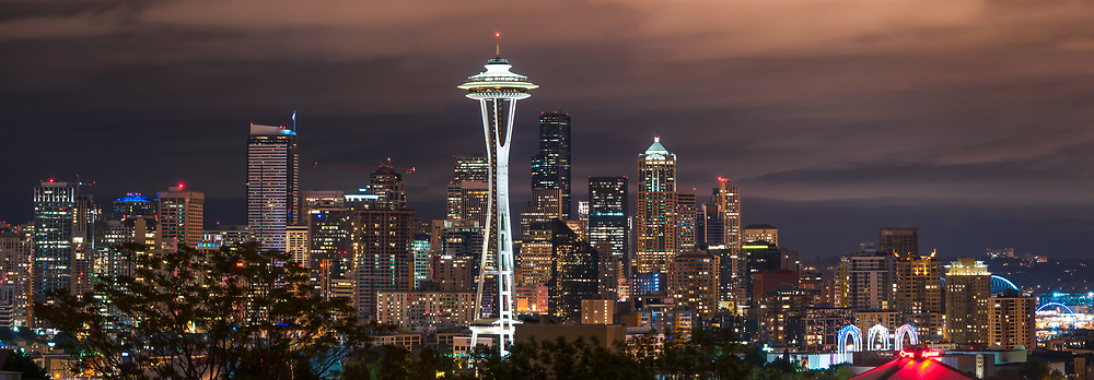 Downtown Seattle and the space needle as seen from Kerry Park.