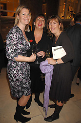 Left to right, NAOMI HANCOCK, PAULA FITZHERBERT and KATIE TAYLOR at a party to celebrate the publication of Lucia Van Der Post's  book 'Things I Wish My Mother Had Told Me' held at Asprey, New Bond Street, London on 8th November 2007.<br />