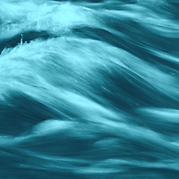 """""""Blue""""<br /> <br /> Gorgeous flowing abstract in hues of blue and aqua!"""