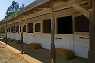 Stables at the Leo Carillo Ranch Historic Park, near Carlsbad, San Diego County, California