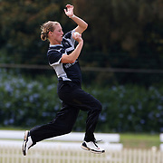 Sophie Devine bowling during the match between England and New Zealand in the Super 6 stage of the ICC Women's World Cup Cricket tournament at Bankstown Oval, Sydney, Australia on March 14 2009, England won the match by 31 runs. Photo Tim Clayton