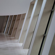 First floor interior of the Kauffman Center for the Performing Arts, Kansas City, Missouri.