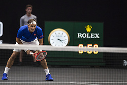September 22, 2018 - Chicago, Illinois, U.S - Team Europe member ROGER FEDERER of Switzerland during the second singles match between Team Europe and Team World on Day Two of the Laver Cup at the United Center in Chicago, Illinois. (Credit Image: © Shelley Lipton/ZUMA Wire)