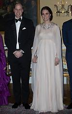 Duke and Duchess of Cambridge attend a dinner in Oslo - 1 Feb 2018