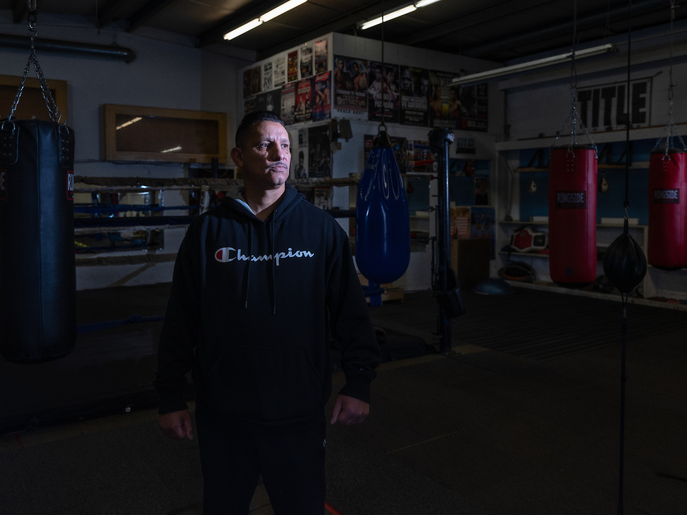 David Owens, owner of Center Ring Boxing Club.Franklin Blvd., Sacramento.<br /> <br /> We were Northern California's number one team. We had champions, I was making champions. I just miss boxing, I miss the competition. I'm barely open. Before, we had like 50 to 40 Kids.  For me to keep this going, I'll do anything I can. However, I can create some revenue to keep this going, I'll do it. I'll try anything.  If this closes down, all the kids that I have here have nowhere to go. So, I can't close down.