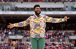 Khalid on stage during Capital's Summertime Ball. The world's biggest stars perform live for 80,000 Capital listeners at Wembley Stadium at the UK's biggest summer party. PRESS ASSOCIATION PHOTO. Picture date: Saturday June 8, 2019. Photo credit should read: Isabel Infantes/PA Wire