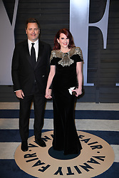 Nick Offerman, Megan Mullally attending the 2018 Vanity Fair Oscar Party hosted by Radhika Jones at Wallis Annenberg Center for the Performing Arts on March 4, 2018 in Beverly Hills, Los angeles, CA, USA. Photo by DN Photography/ABACAPRESS.COM