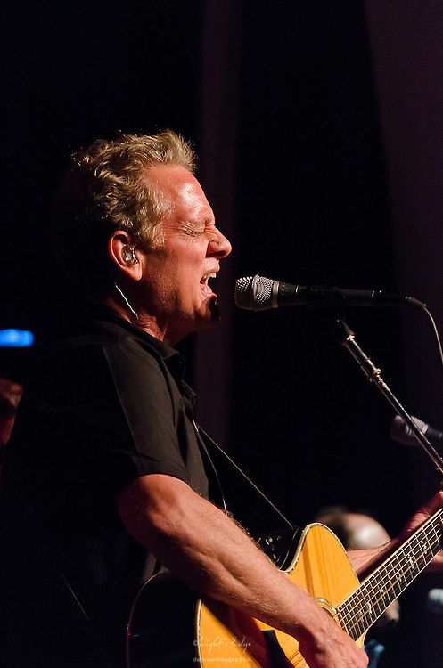 Michael Bacon of The Bacon Brothers on guitar and vocals during their performance at The Ocean City Music Pier, July 9th, 2012.