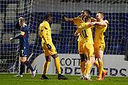 2 Livingston Nicky Devlin celebrates his goal