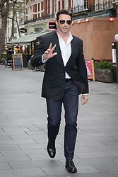 © Licensed to London News Pictures. 05/12/2017. London, UK. HUGH JACKMAN arrives at Global Radio Studios in London. Photo credit: Vickie Flores/LNP