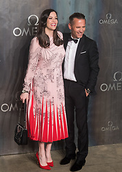 Tate Modern, London, April 26th 2017. Liv Tyler poses with President and CEO of Omega Raynald Aeschlimann as she arrives at the Tate Modern in London for the 'Lost In Space' 60th anniversary event for the Omega Speedmaster watch.